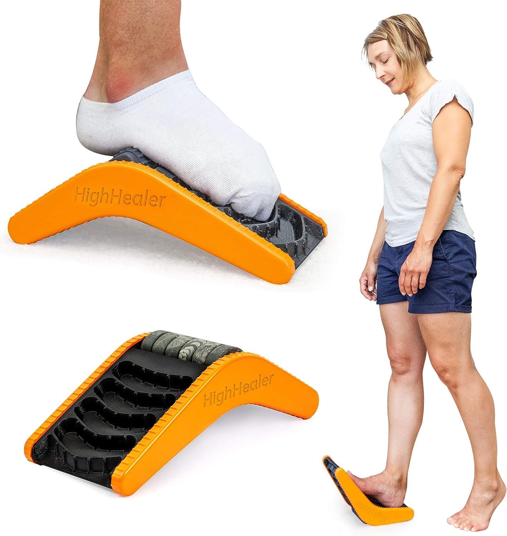 HighHealer 5-in-1 Plantar Fasciitis Massager - Calf Stretcher, Foot Rocker, Foot Stretcher Plantar Fasciitis, Achilles Stretcher, Achilles Tendonitis Relief, Foot Roller Created by Podiatrist
