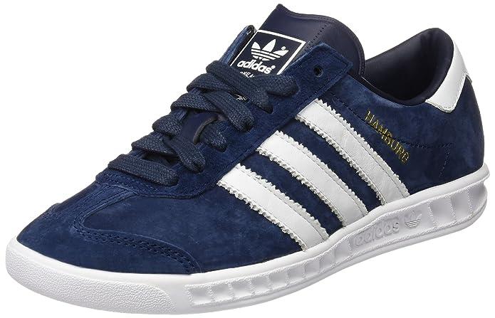 Adidas Hamburg Sneaker Herren blau (Collegiate Navy) mit weißen Streifen