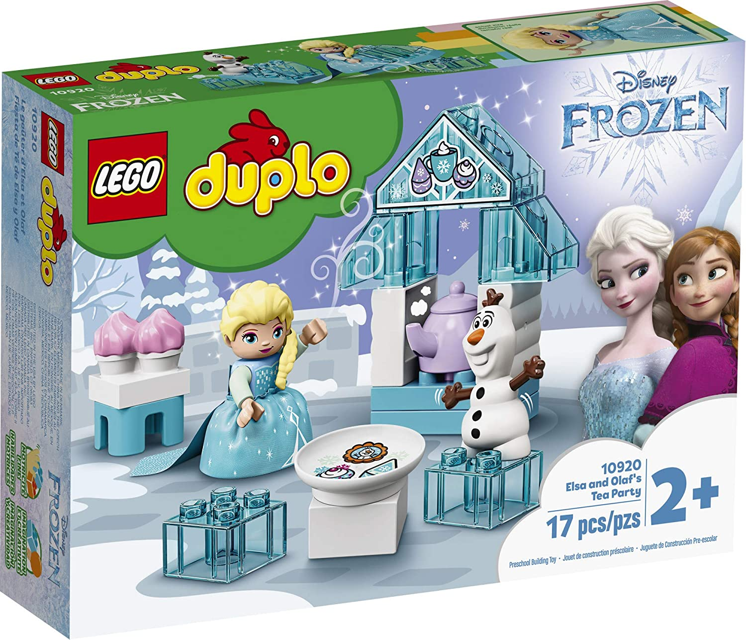 LEGO DUPLO Disney Frozen Toy Featuring Elsa and Olaf\'s Tea Party 10920 Disney Frozen Gift for Kids and Toddlers, New 2020 (17 Pieces)