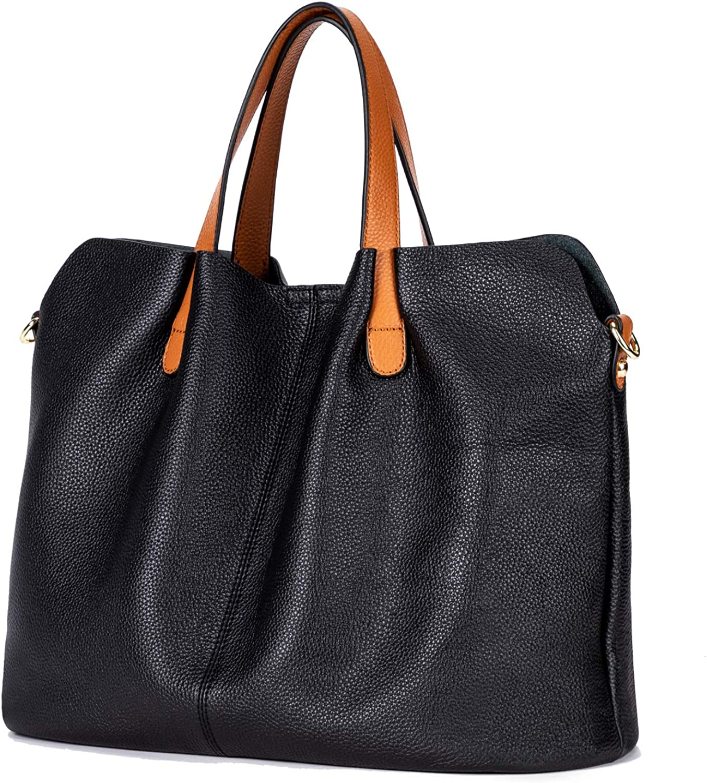 Leather Hand Bag Purse Crossbody Women Designer Handbag Hobo Tote Magnetic Closure Top Brown Handles