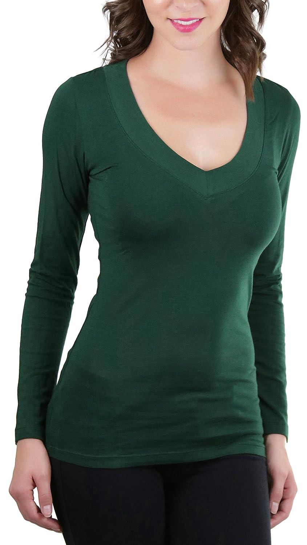 ToBeInStyle Women's Long Sleeve V-Neck T-Shirt