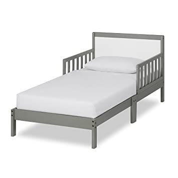 Amazon.com : Dream On Me Brookside Toddler Bed, Steel Grey/White : Baby