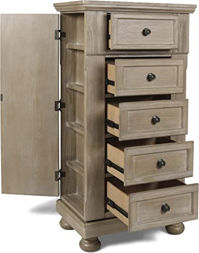 New Classic Furniture Allegra Swivel Chest, Pewter