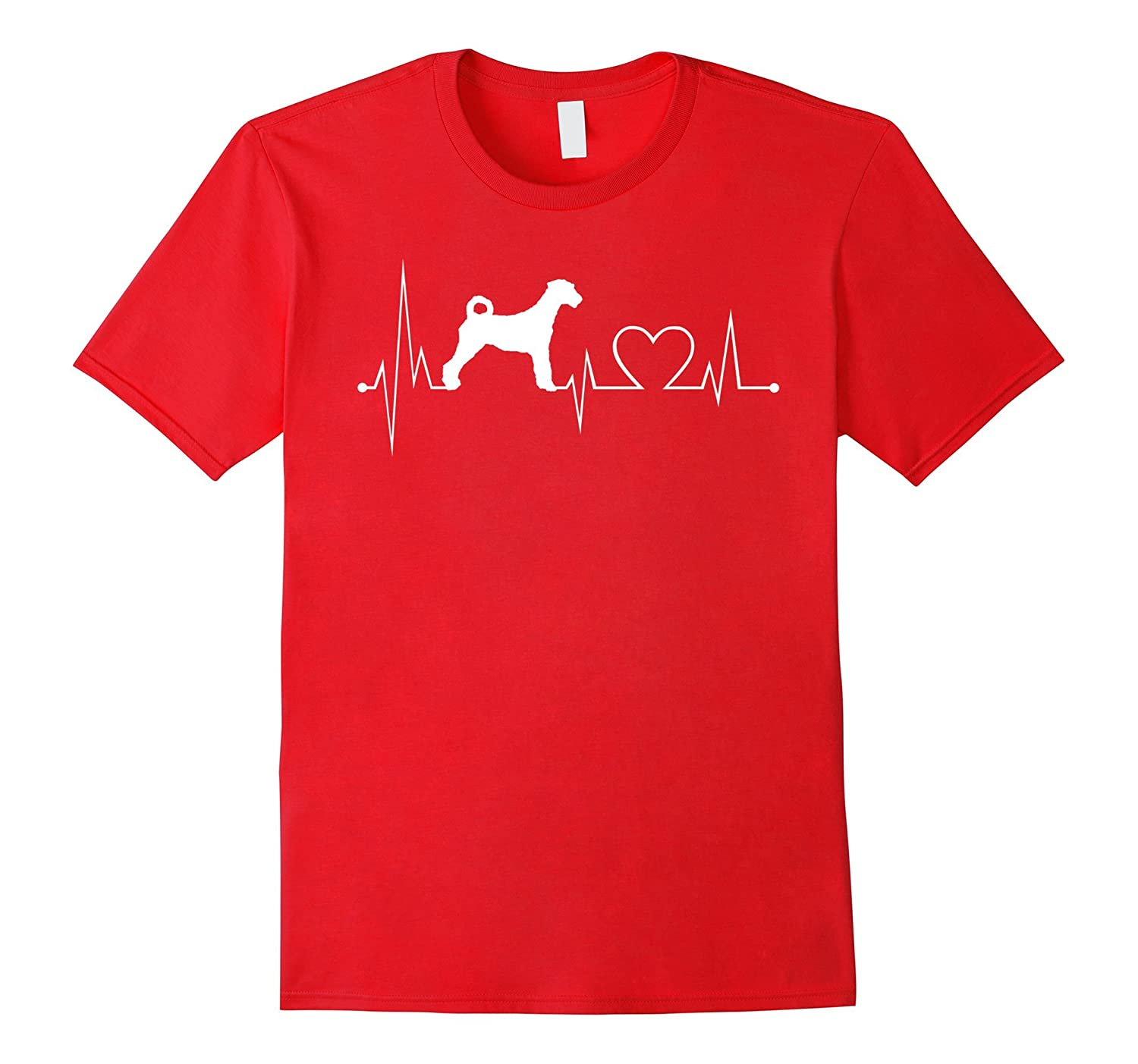 Airedale-Terrier heartbeat shirt-dog lovers tshirt-Vaci