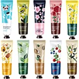 10 Pack Natural Plant Fragrance Hand Cream for Dry Working Hands, Moisturizing Hand Care Cream Travel Gift Set With Natural S