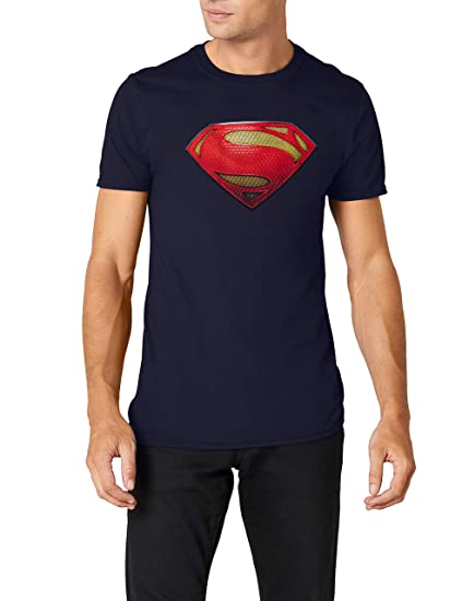 the latest d9574 aa13d Buy XX-Large, Blue : DC Men's Man of Steel Textured Logo ...
