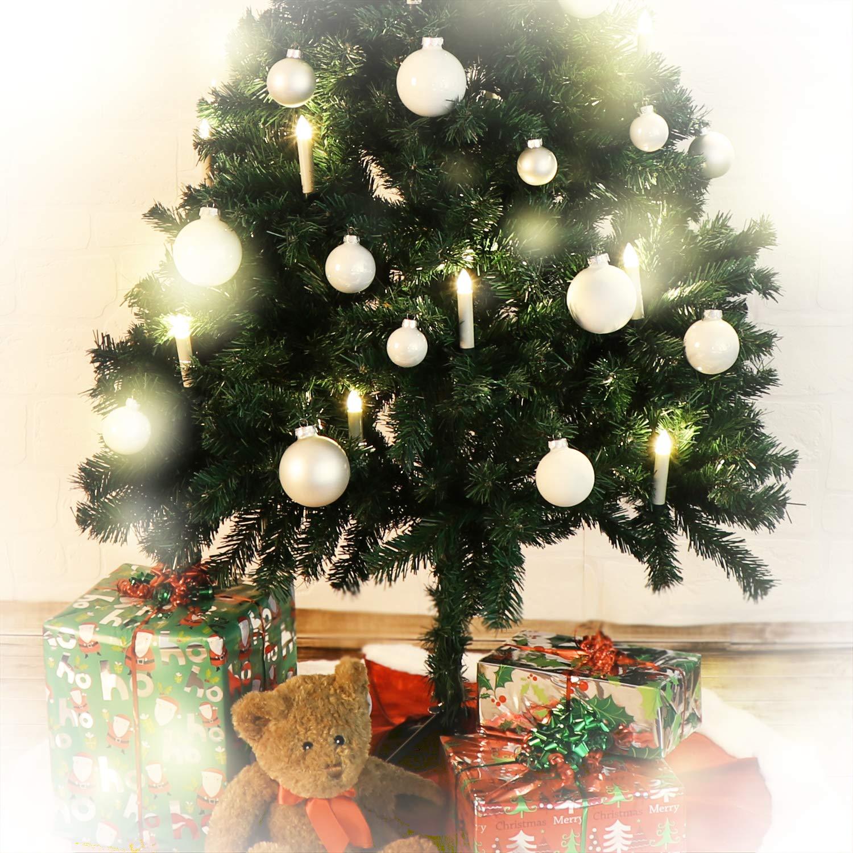 com-four/® 12x Palla per Albero di Natale in Diversi Colori Palle di Natale per LAlbero di Natale 12 Pezzi - Colorati Decorazioni per Albero di Natale in Vetro
