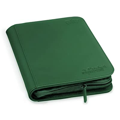 4 Pocket Zipfolio Xenoskin Deck Case, Green: Toys & Games