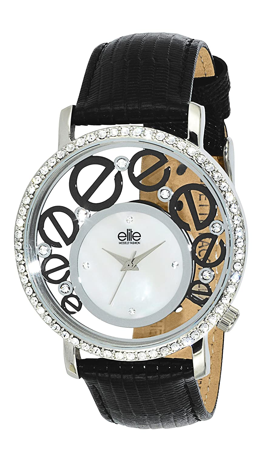 Elite Models' Fashion Damen-Armbanduhr Analog Quarz Schwarz E53952-203