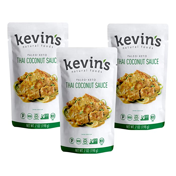 Kevin's Natural Foods - Keto and Paleo Recipe Sauce - 3 pack (Thai Coconut)