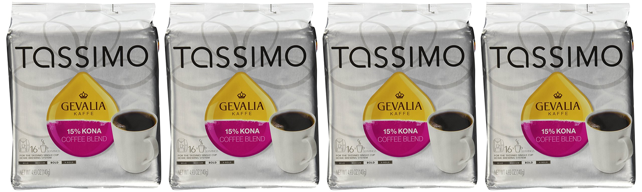 Gevalia Kaffe 15% Kona Blend Coffee (Pack of 4)