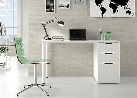 Tavolo Ufficio Bianco : Madrid bianco lucido ufficio tavolo scrivania fattore di mobili