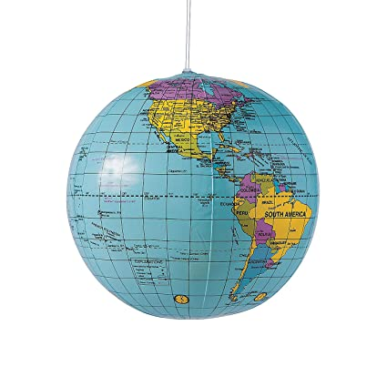 Amazon.com: Pelota hinchable de mundo Globe playa 9