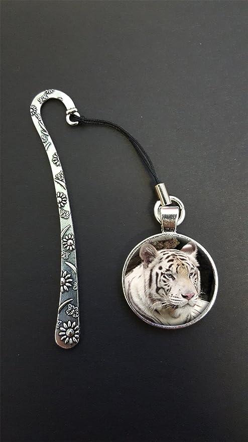 Tigre de Bengala colgante en un diseño de metal Bookmark ...