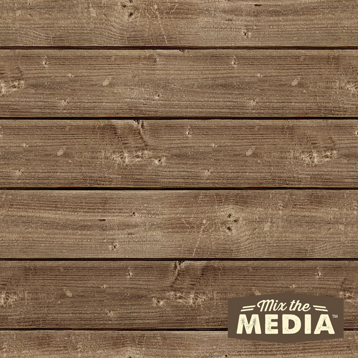 Hampton Art MixThe Media Wooden Plank Plaque, 10x10-Inch JB0431