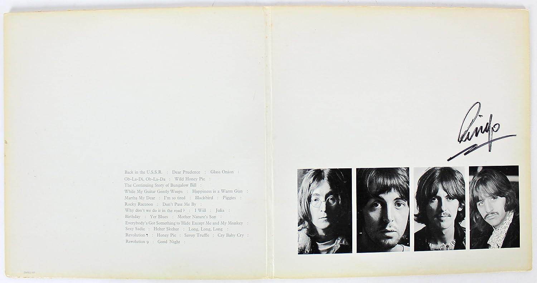 Ringo Starr The Beatles Authentic Signed The White Album Album Cover BAS #A70466