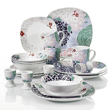 Merveilleux VEWEET 20 Piece Ceramic Dinner Sets Splendor Plate Sets Kitchen Plates,  Service For 4