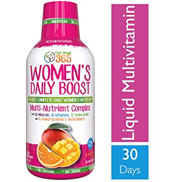 Best Womens Multivitamin >> Women S Liquid Superfood Multivitamin By Feel Great 365 Woman Vitamins With 60 Minerals 16 Vitamins 12 Amino Acids 16 Herb Antioxidants 1