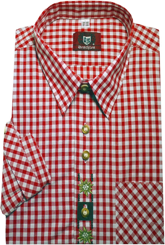 Orbis 0103 Tracht Camisa Color Rojo Blanco A Cuadros con ...