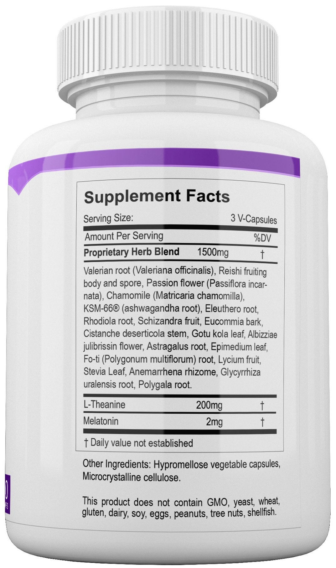 Sleep and Recover - Natural Sleep Aid - Non Habit Forming - 60 V-Capsules by HerbWorks (Image #3)
