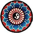 Belle bleu de Lotus Yin Yang Yin et le Yang méditation spirituelle indoue Hippie Yoga Inner Peace Patch ''8 x 8 cm'' - Écusson brodé Ecussons Imprimés Ecussons Thermocollants Broderie Sur Vetement Ecusson