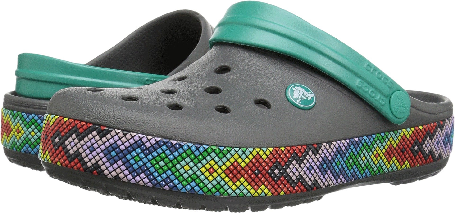 Crocs Crocband Gallery Clog, Slate Grey, 7 US Men/ 9 US Women M US by Crocs