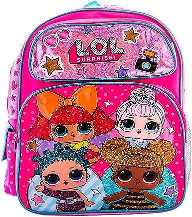L.O.L Surprise 16 Rolling Bag Backpack Book Bag Travel Bag Animated Cartoon Bag Go L.O.L Series