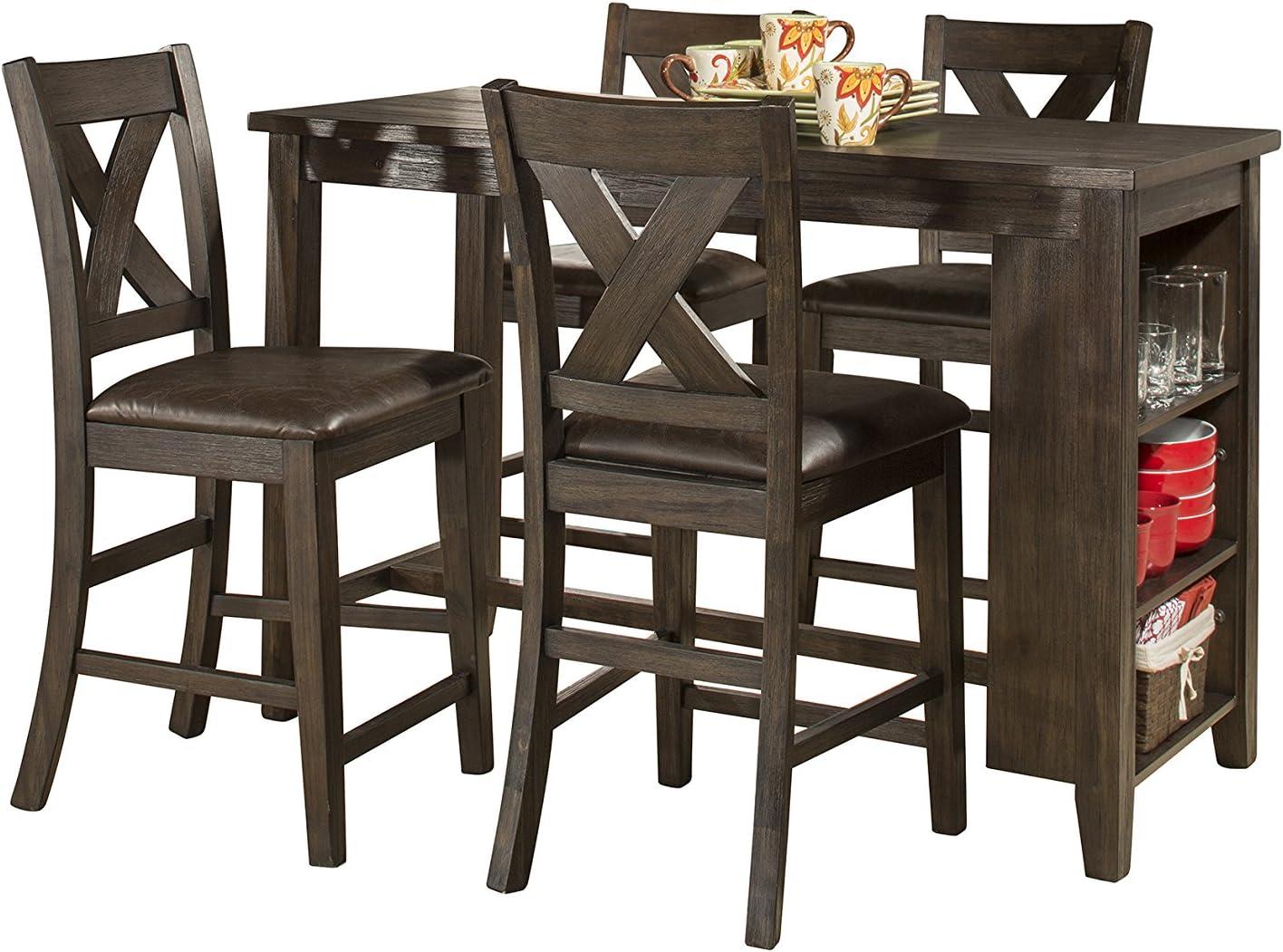 Hillsdale Furniture Spencer Dining Table 3 Piece Wire brush Dark Espresso