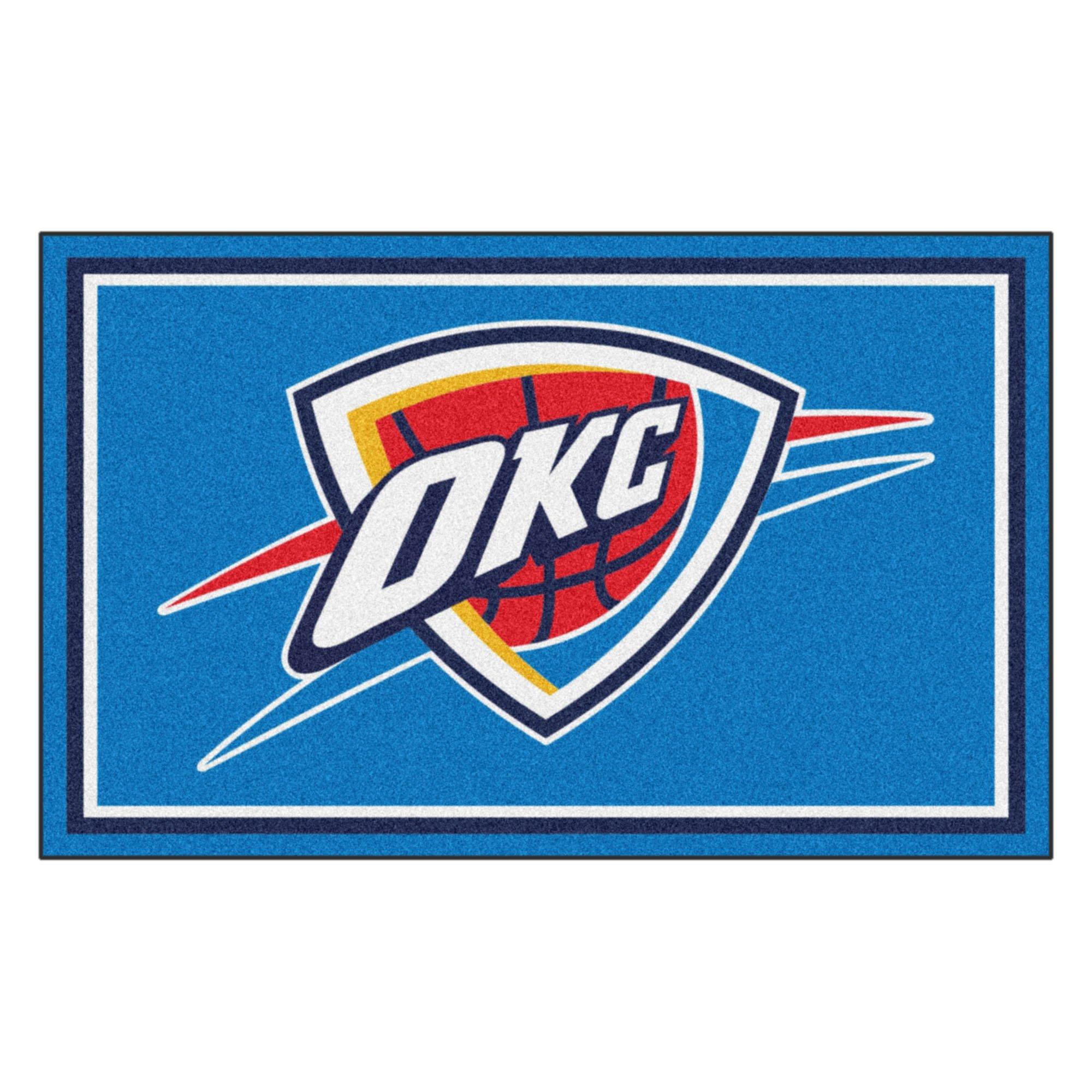 FANMATS 20438 NBA - Oklahoma City Thunder 4'X6' Rug, Team Color, 44''x71''