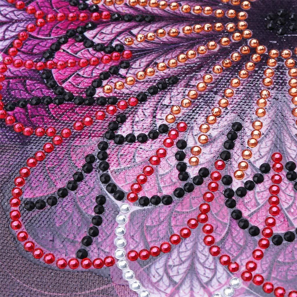 Xhome DIY 5D Diamond Painting Taladro Parcial Kits de Punto de Cruz Crystal Picture Art Craft Para La Decoraci/ón de La Pared del Hogar 25X25 Love /& Rose Shaped Pattern A