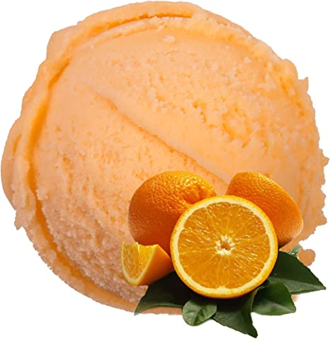 Sabor de naranja 1 Kg Helado de Gino Gelati Polvo para helado Polvo de helado Polvo de hielo suave