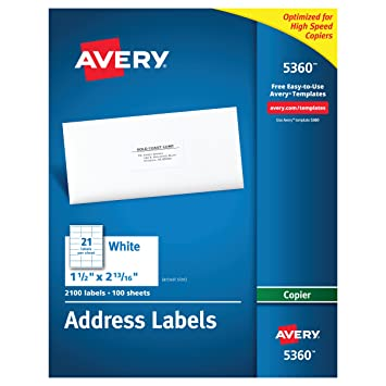 Amazon avery address labels for copiers 1 12 x 2 1316 inches avery address labels for copiers 1 12 x 2 1316 reheart Image collections