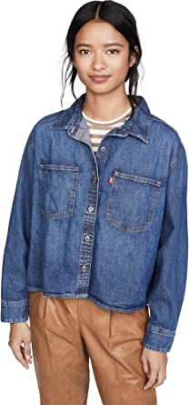 Levis Gracie - Camisa para mujer - Azul - X-Large: Amazon.es ...