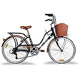 Loving Bicicleta Urbana Monk Rodada 24 De 7 Velocidades - Negro