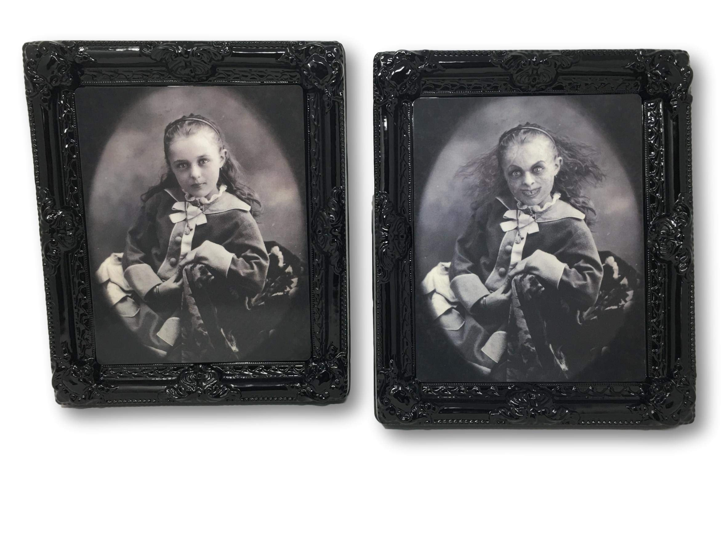 Seasons By Nicole Halloween Haunted Mansion Lenticular 12'' x 10'' Spooky Moving Portrait Picture Frame Decor (The Amy Lilith Possession)