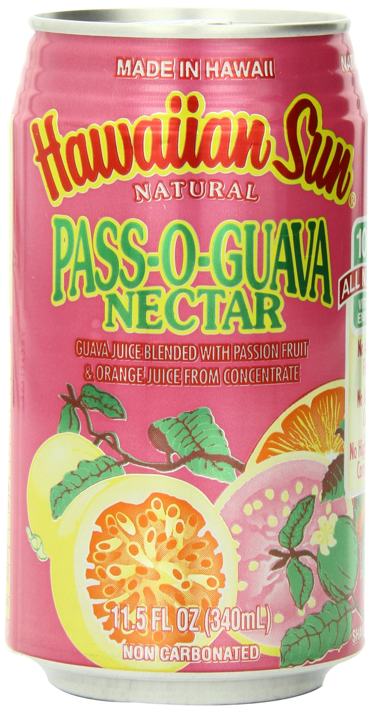 Hawaiian Sun Nectar, Pass-O-Guava, 11.5-Ounce (Pack of 24)