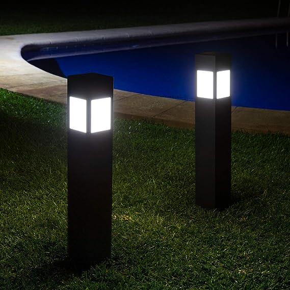 LEDKIA LIGHTING Baliza LED Solar Kenya con Detector de Movimiento Radar IP65 Blanco Cálido 2800K - 3200K 80 cm: Amazon.es: Iluminación