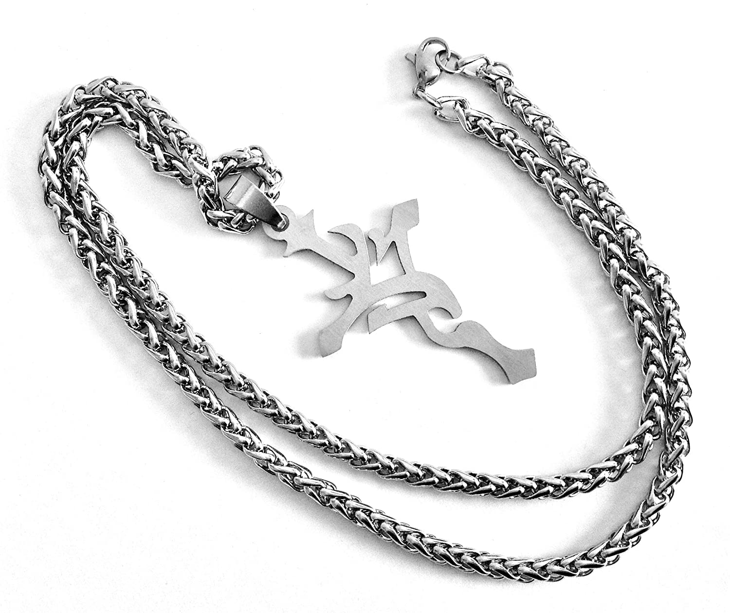 Tina Maries Jewelry Stainless Steel Thorn Cross /& 20 Necklace