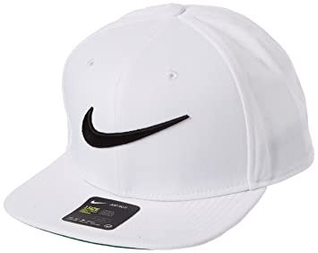 eaa74d21ceef1 Nike Pro Cap Swoosh Classic Casquette Homme, Blanc/Pine Green Noir, FR  Fabricant