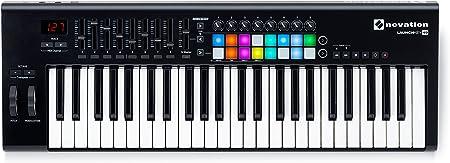 front facing novation launchkey beginner midi keyboard