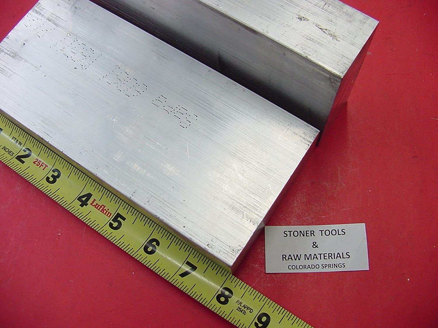 "2 Pieces 1-1//2/""x 3-1//2/"" ALUMINUM 6061 FLAT BAR SOLID 9/"" long PLATE Mill Stock"