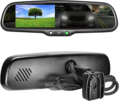 "Master Tailgaters OEM Rear View Mirror with 4.3/"" Auto Bright LCD Auto Dimming"
