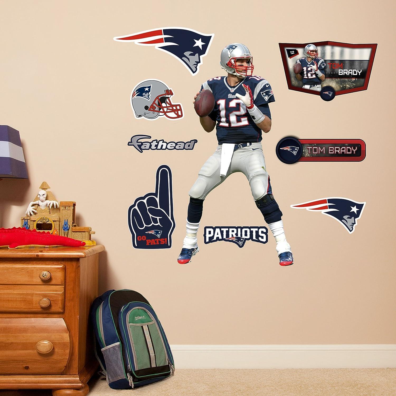 Amazon.com : NFL New England Patriots Tom Brady Fathead Wall Decal, Junior  : Sports U0026 Outdoors Part 65