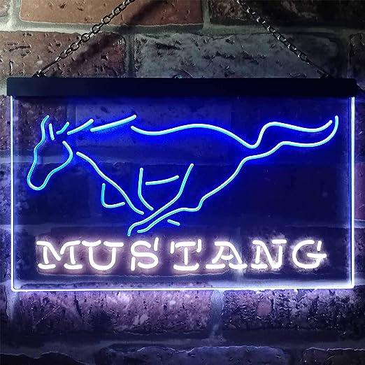 Mustang Ford - Cartel de neón con luz LED: Amazon.es: Hogar