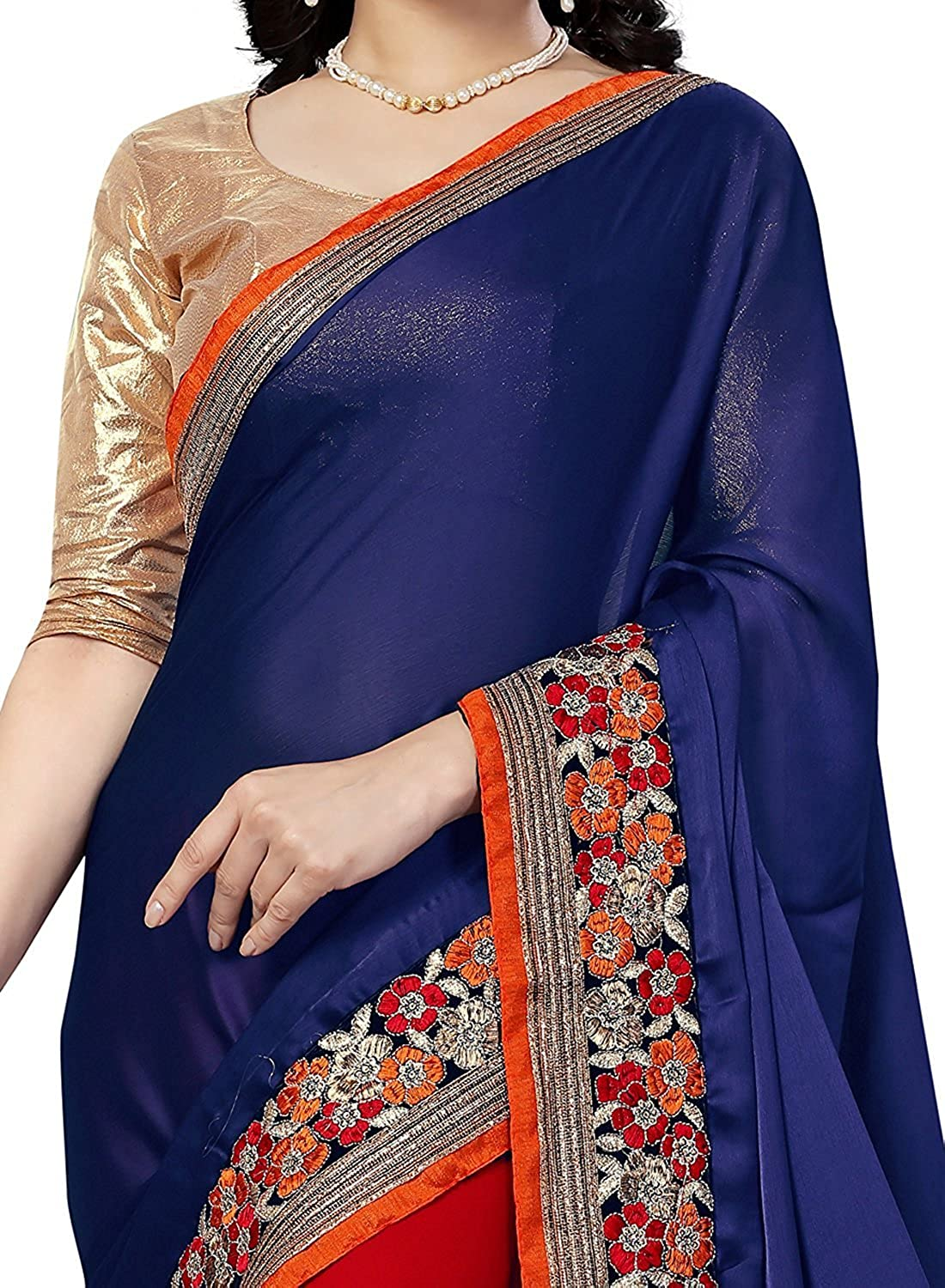 Best Party Wear Georgette Saree with Blouse Piece