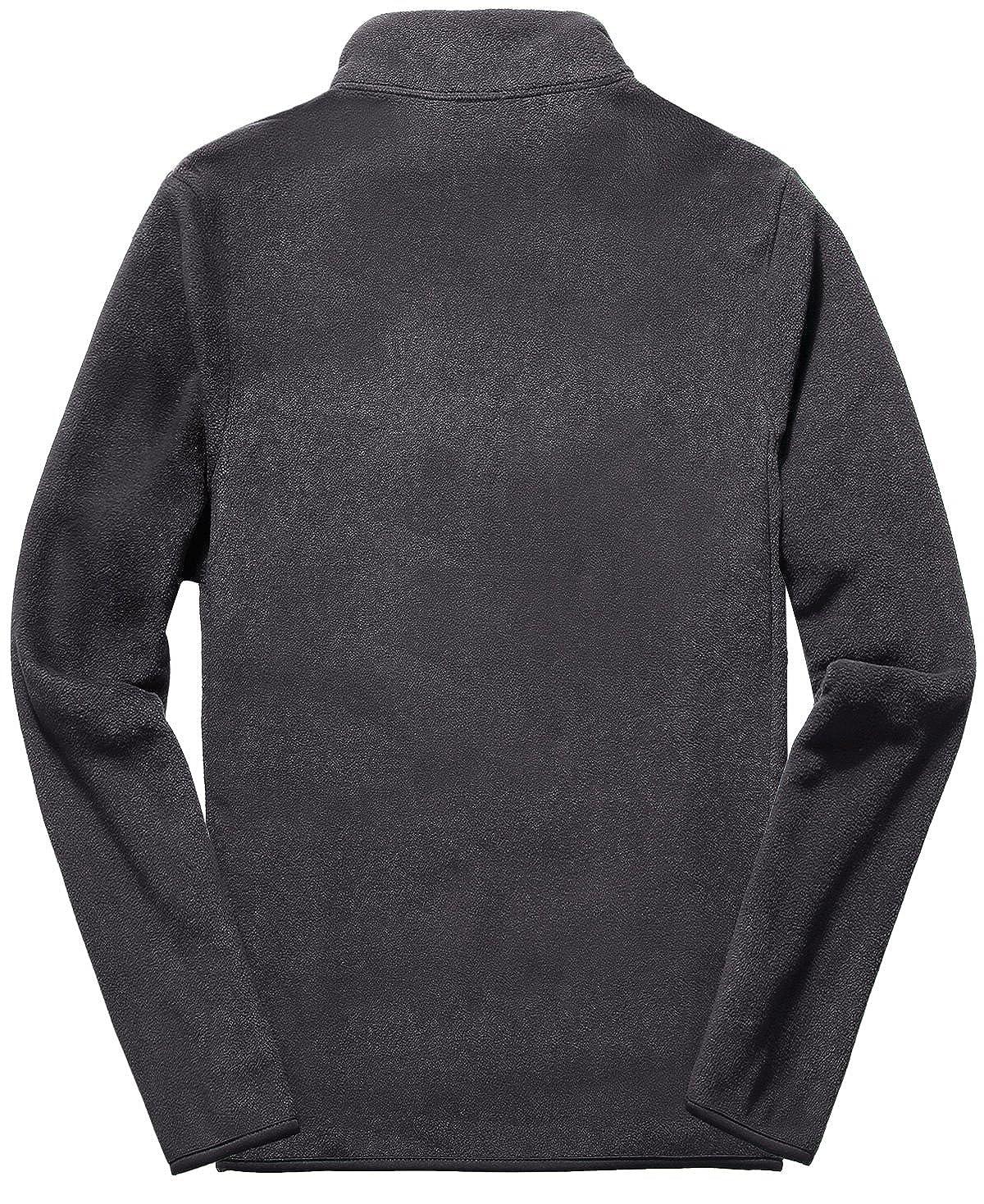 Fastorm Mens Lightweight Fleece Jacket Zipper Sweatshirt Polar Fleece Jacket
