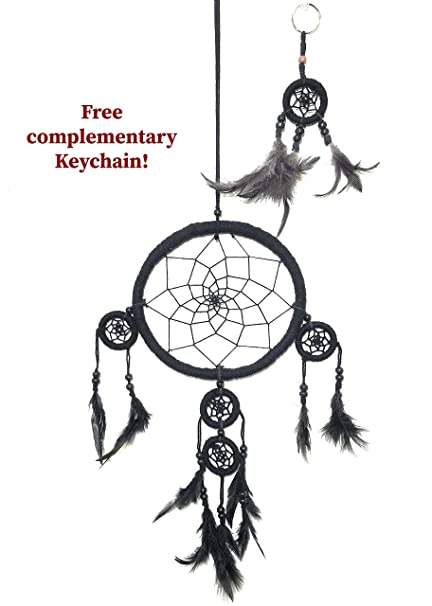 Cool Gifts Handmade Dream Catchers Colorful Authentic Indian Traditional  Native American Circular net with Feathers Wind Chimes for car Kids Bedroom
