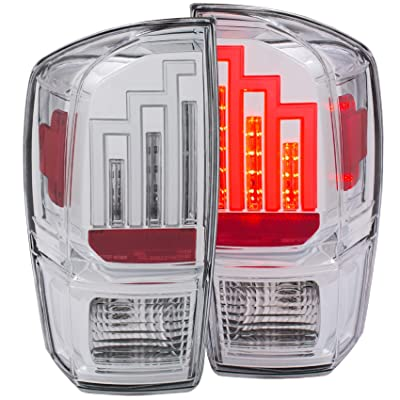 Anzo USA 311283 Tail Light Assembly Clear Lens Chrome Housing Pair Tail Light Assembly: Automotive [5Bkhe1508468]