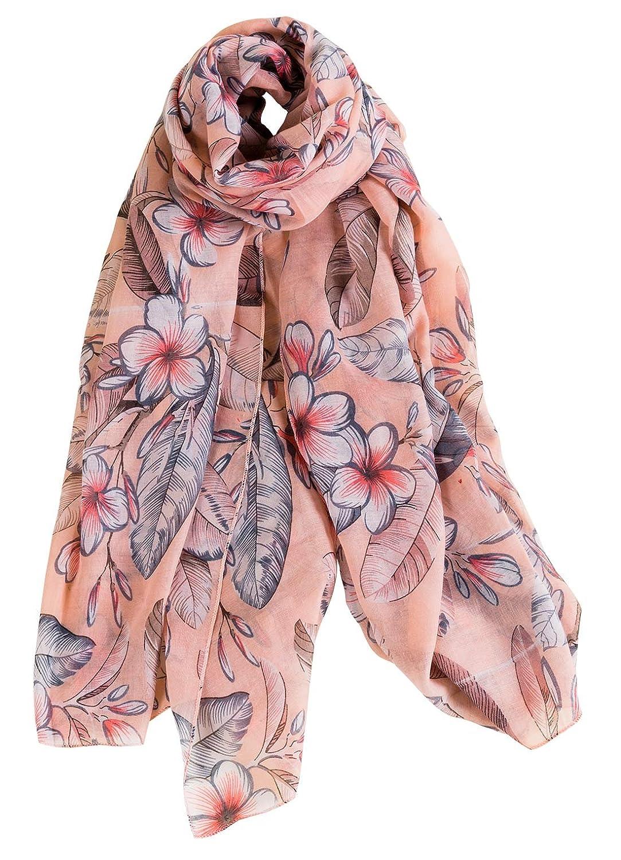 Aivtalk - Foulard Femme Soie Chic Impression Pofusion Fleurs  Él égant  Respirant,  Écharpe Satin Mode Doux Classique ... 11f6987e163