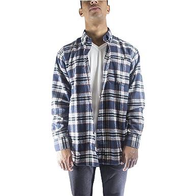 Walnut Creek Mens Button Down Plaid Long Sleeve Flannel Shirt (XX ...